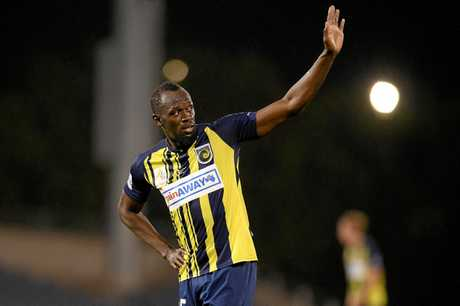 Usain Bolt could be leaving the Mariners. (AAP Image/Dan Himbrechts)