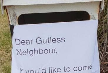 Aussie mum's hilarious response to neighbour's note