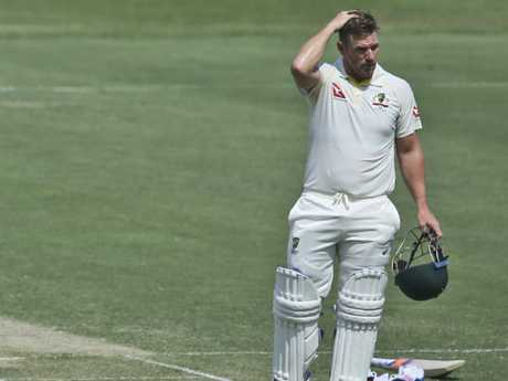 """We didn't really know about it until last Test, about the three metres,"" Australian opener Aaron Finch said."