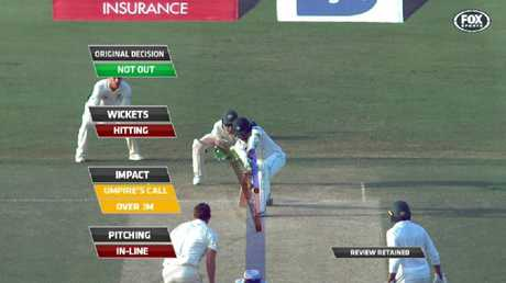 The DRS 'three-metre rule' struck again to deny the Aussies a key wicket in the UAE.