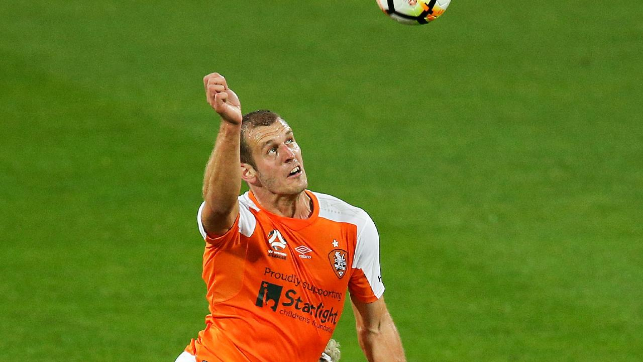Luke DeVere has been left out of the Roar squad for their season opener against the Mariners. (Photo: Hagen Hopkins/Getty Images)