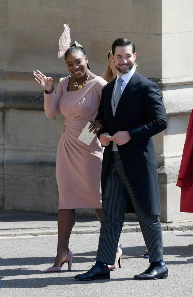 Williams and her husband Alexis Ohanian attended Meghan's wedding to Harry. Picture: Shaun Botterill