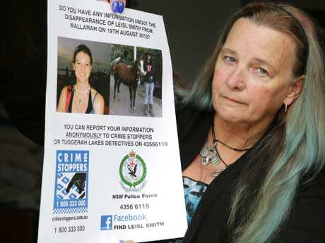 Sandi Smith has been trying to get answers as to what happened to her daughter Leisl who went missing from Tuggerah station on August 19 2012. Picture: Mark Scott