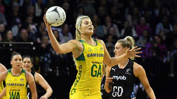 Gretel Tippett in action for the Diamonds. Picture: AAP