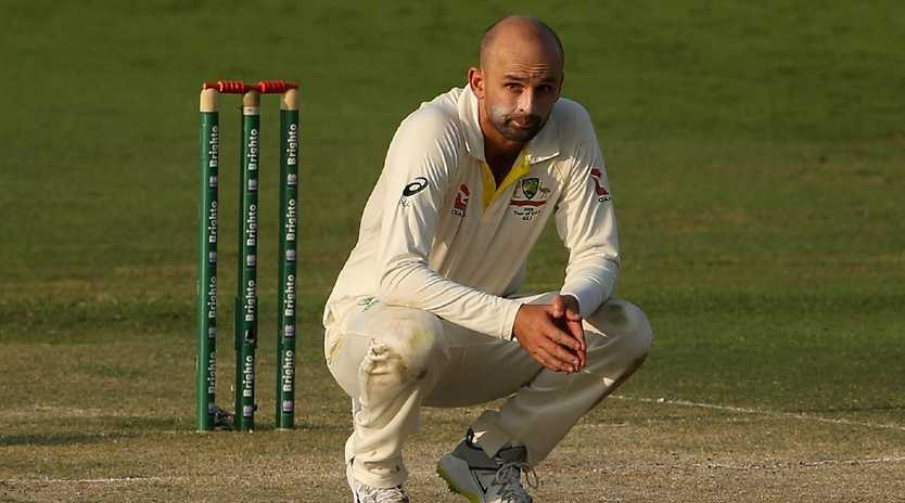 Nathan Lyon and his Australian teammates are feeling the pressure. Picture: Getty