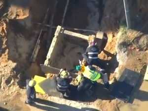 Horror scenes as worker dies in trench