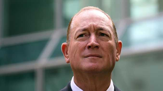 Fraser Anning during a press conference at Parliament House in Canberra. Picture Gary Ramage