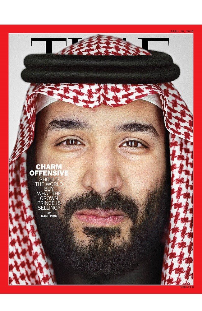 The Crown Prince appeared on the cover of TIME earlier this year.