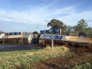 Major clean-up under way after molasses tanker rollover