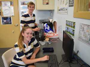 Ergon school apprentices Holly Wright and Bryce