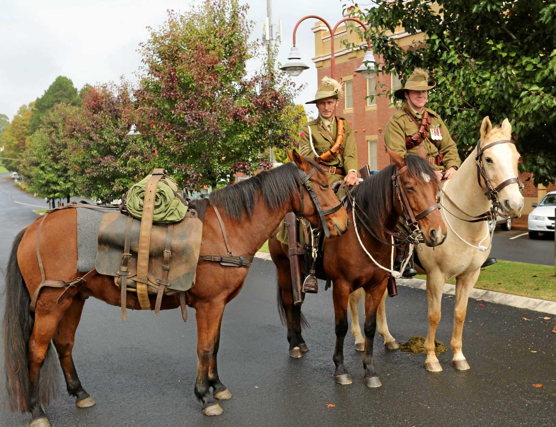 Dorrigo Light Horse members.
