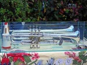 Cec Ryan's trumpet returns home to Dalby