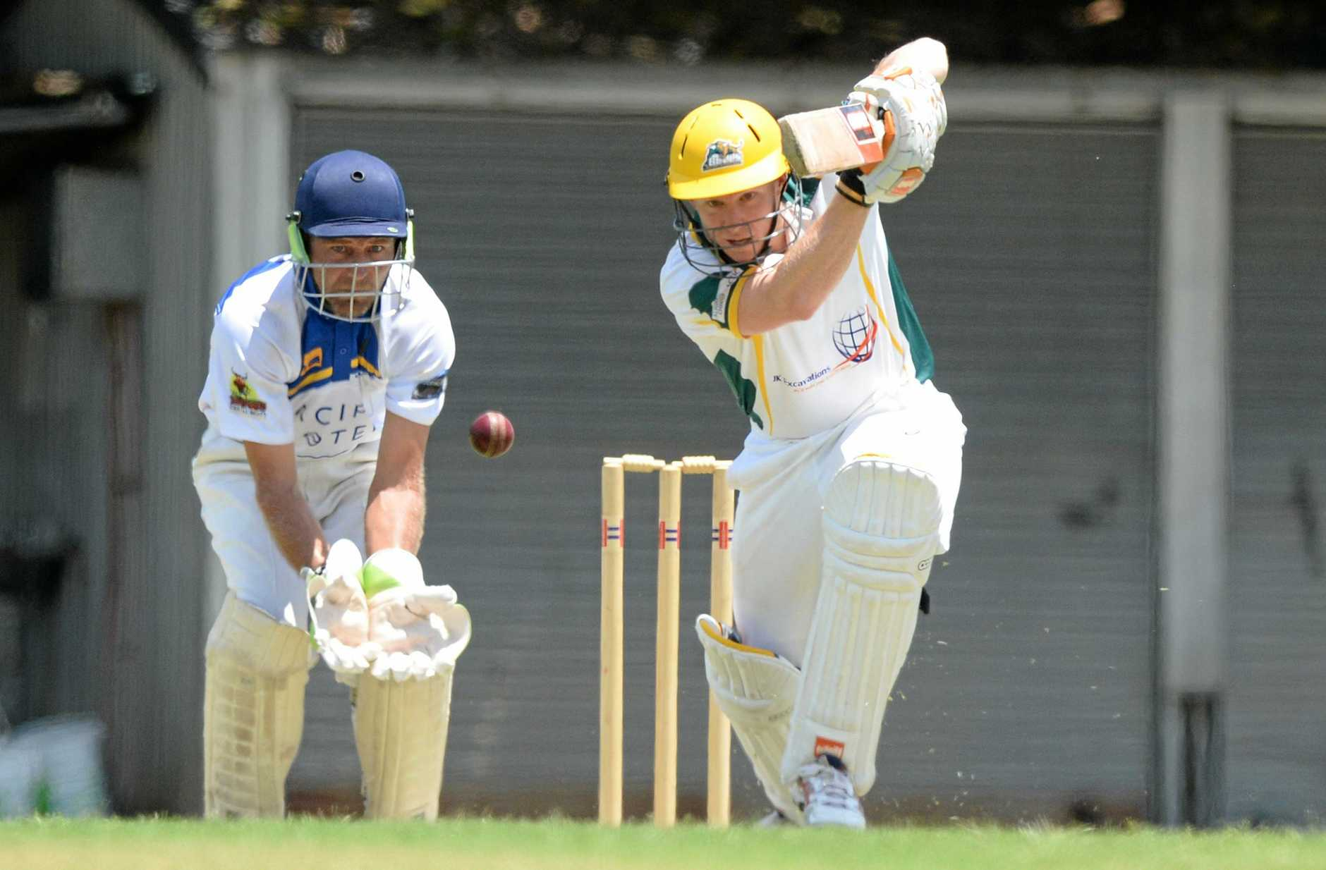 Gracemere player Todd Harmsworth in the cricket game against Capricorn Coast Parkhana