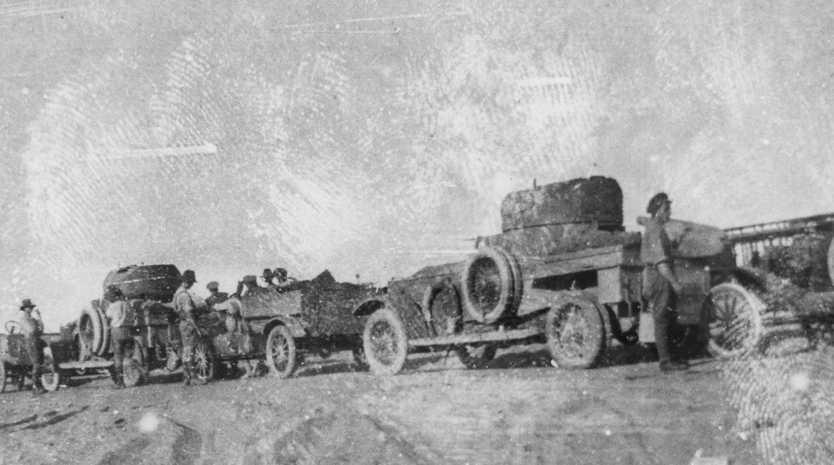 Armoured cars in World War I.