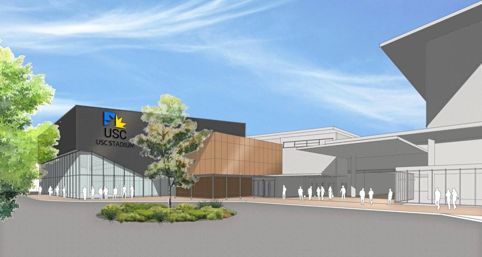 IMPRESSION: Artist's impression of the upgraded University of the Sunshine Coast stadium.