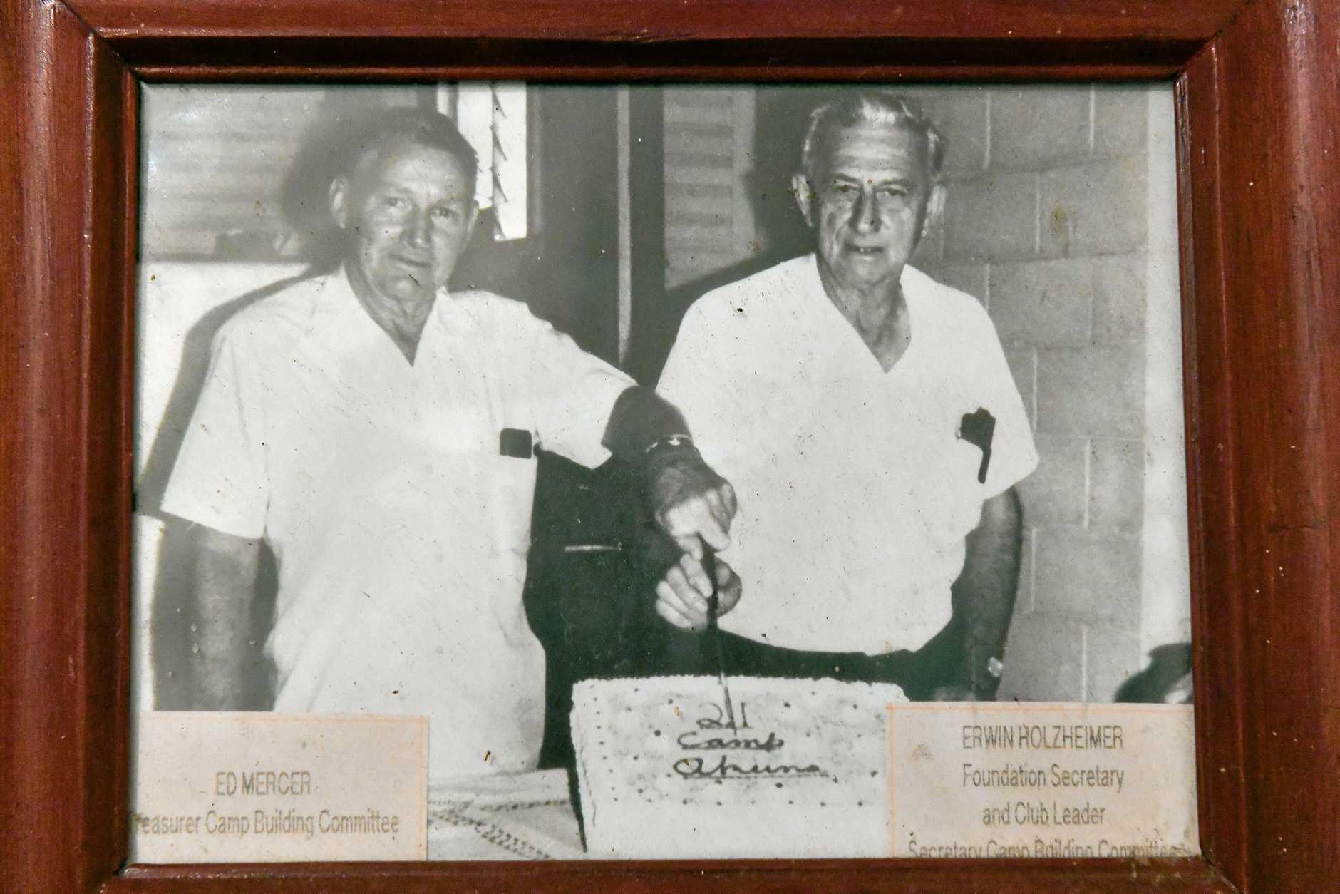 Ed Mercer and Erwin Holzheimer at Camp Akuna.