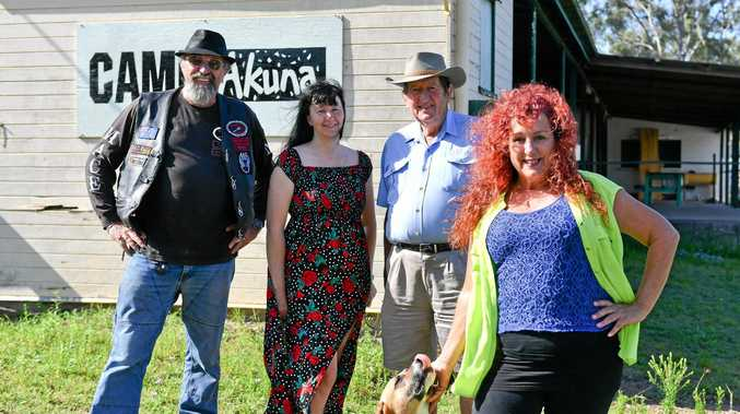 Brenton Goldsworthy, Melanie Achilles,Ion Daetz and Donna Selby at Camp Akuna.