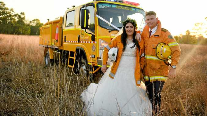 SPARKS FLY: Sarah Lara and Peter Jackson were married at their home on September 29.