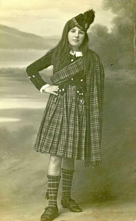Ella in her winning Scottish costume at a Cudgera Fancy Dress Juvenile Ball in August 1920, aged 11.