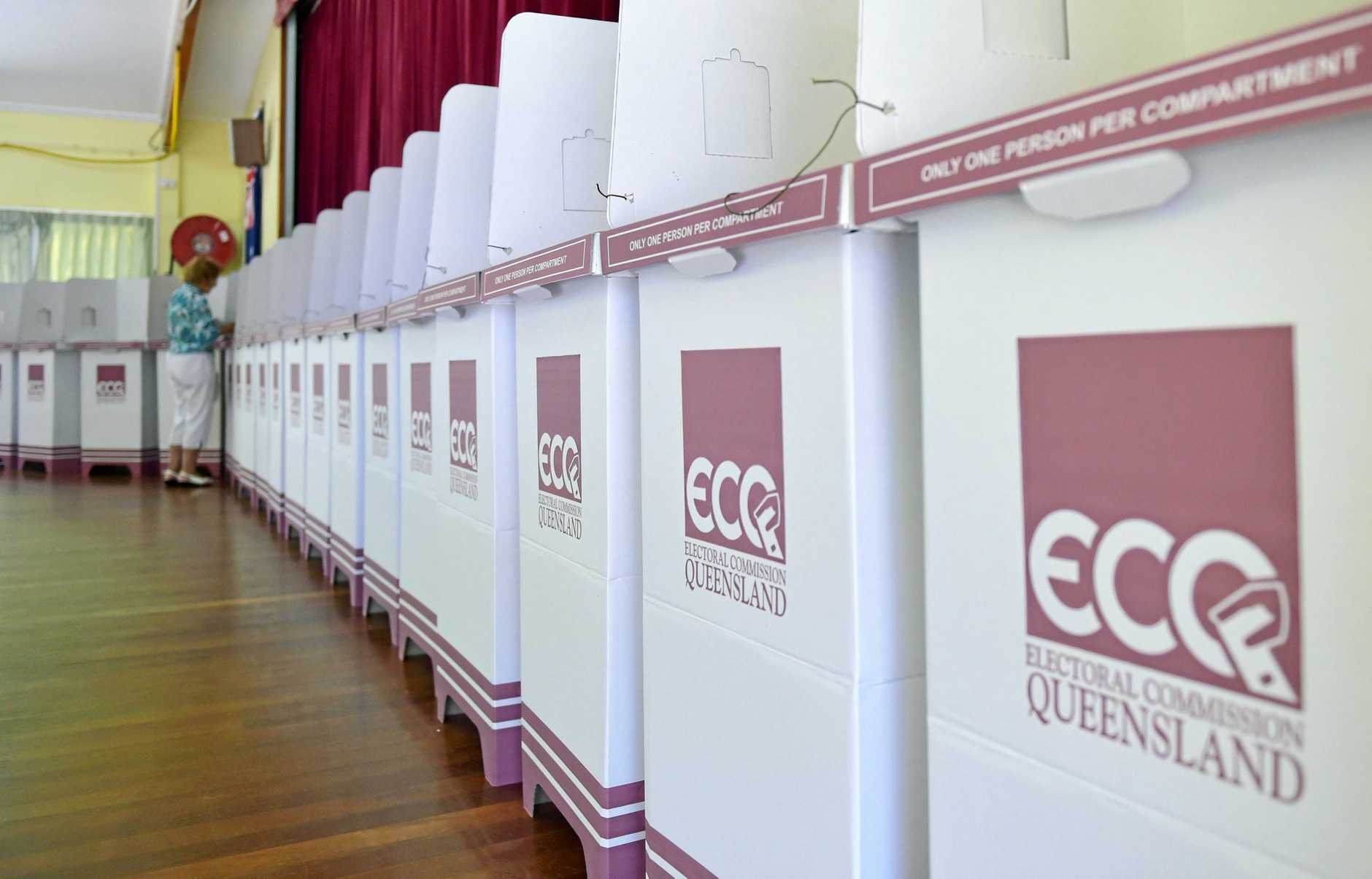 Queensland state election day at the polling booth at the CCSA Hall in Nutley Street, Caloundra. Photo: Brett Wortman / Sunshine Coast Daily