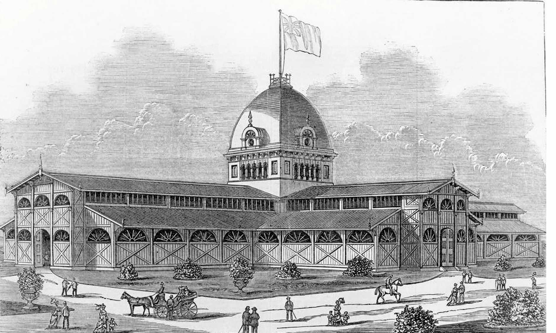 HISTORIC: The Exhibition Building in Brisbane where the two sons of the Prince of Wales (Princes Edward and George) visited.