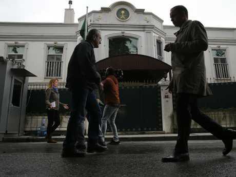 The Saudi Arabia consulate in Istanbul, where Jamal Khashoggi was last seen. Picture: AP