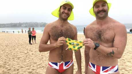 Jarrod and Giovani have prepared the most Aussie gift ever for Meghan and Harry. Picture: James Weir