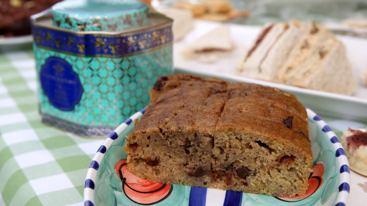 The Banana bread Meghan baked was shared during tea with local farmers in Dubbo. Picture: Toby Zerna
