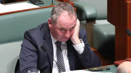 There's talk of a return to the Nationals leadership by Barnaby Joyce — and the public are unlikely to tolerate politicians obsessing over themselves once again. Picture: Kym Smith