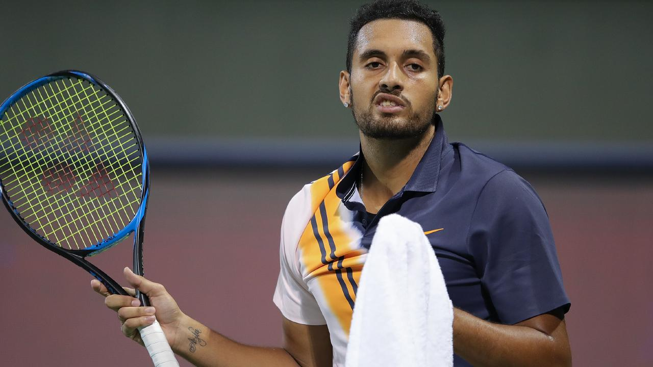 Nick Kyrgios at the Shanghai Masters.
