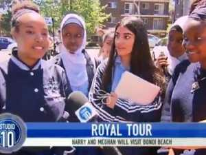 Schoolgirls' perfect take on Meghan