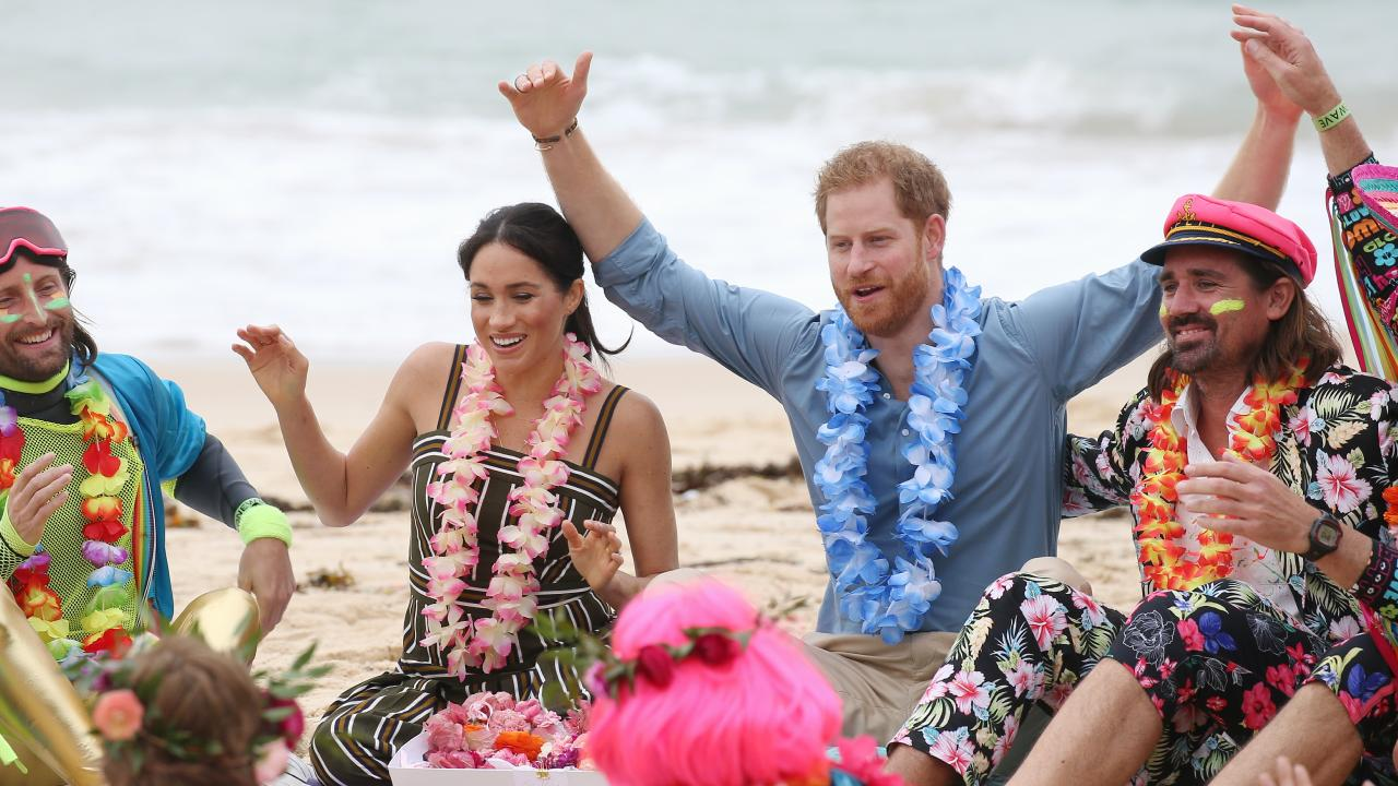Harry and Meghan visit Bondi to take part in the
