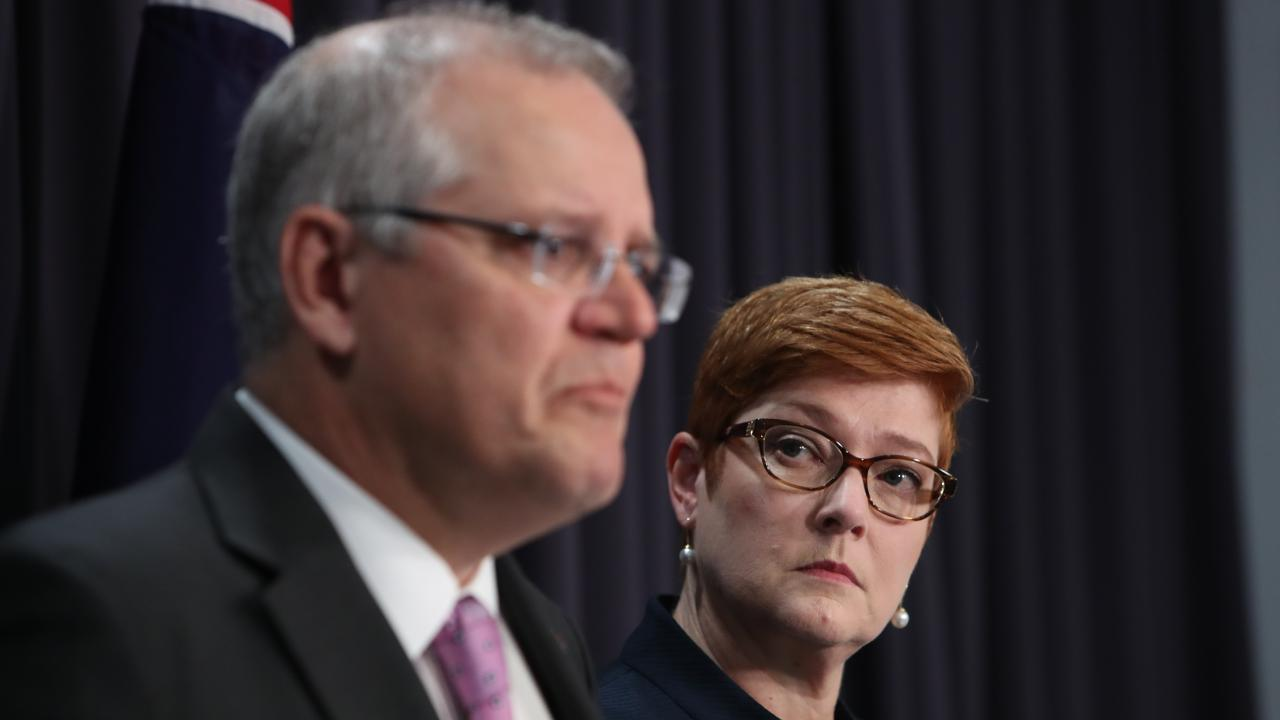 No one expected Scott Morrison's announcement that he was open to moving Australia's embassy in Israel to Jerusalem, which some now think was simply opportunism. Picture: Kym Smith