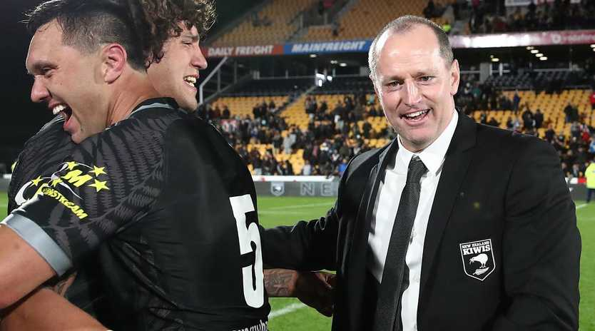New Zealand coach Michael Maguire has been approached by Wests Tigers CEO Justin Pascoe about replacing Ivan Cleary. (Photo by Fiona Goodall / AFP)