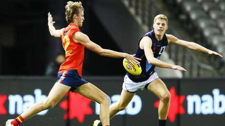 Jack Lukosius in action for SA during this year's AFL under-18 championships. Picture: Getty Images