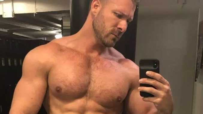 A Delta flight attendant has been suspended after a video emerged of him in a mile-high sexual encounter with porn star Austin Wolf (pictured). Picture: Austin Wolf