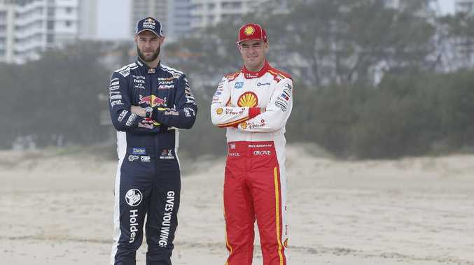 Supercars drivers Shane van Gisbergen and Scott McLaughlin at Surfers Paradise ahead of the Gold Coast 600.