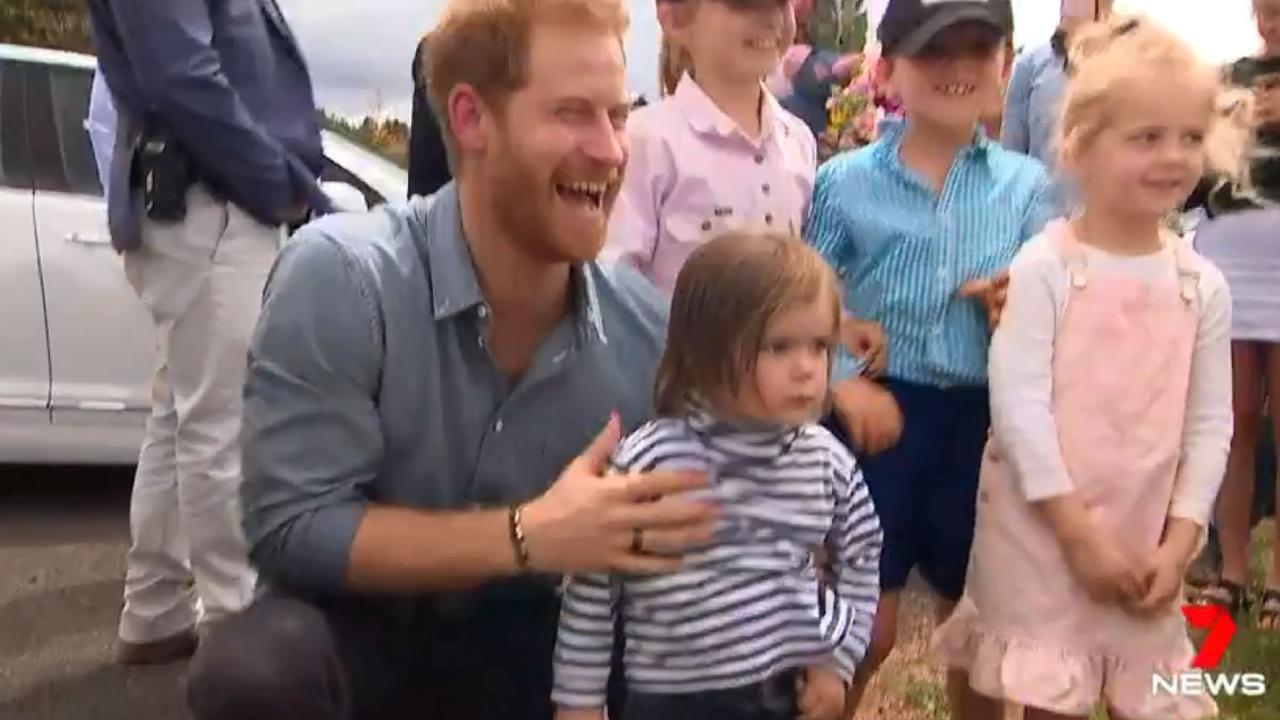 Harry and Meghan have spent a lot of time greeting kids.