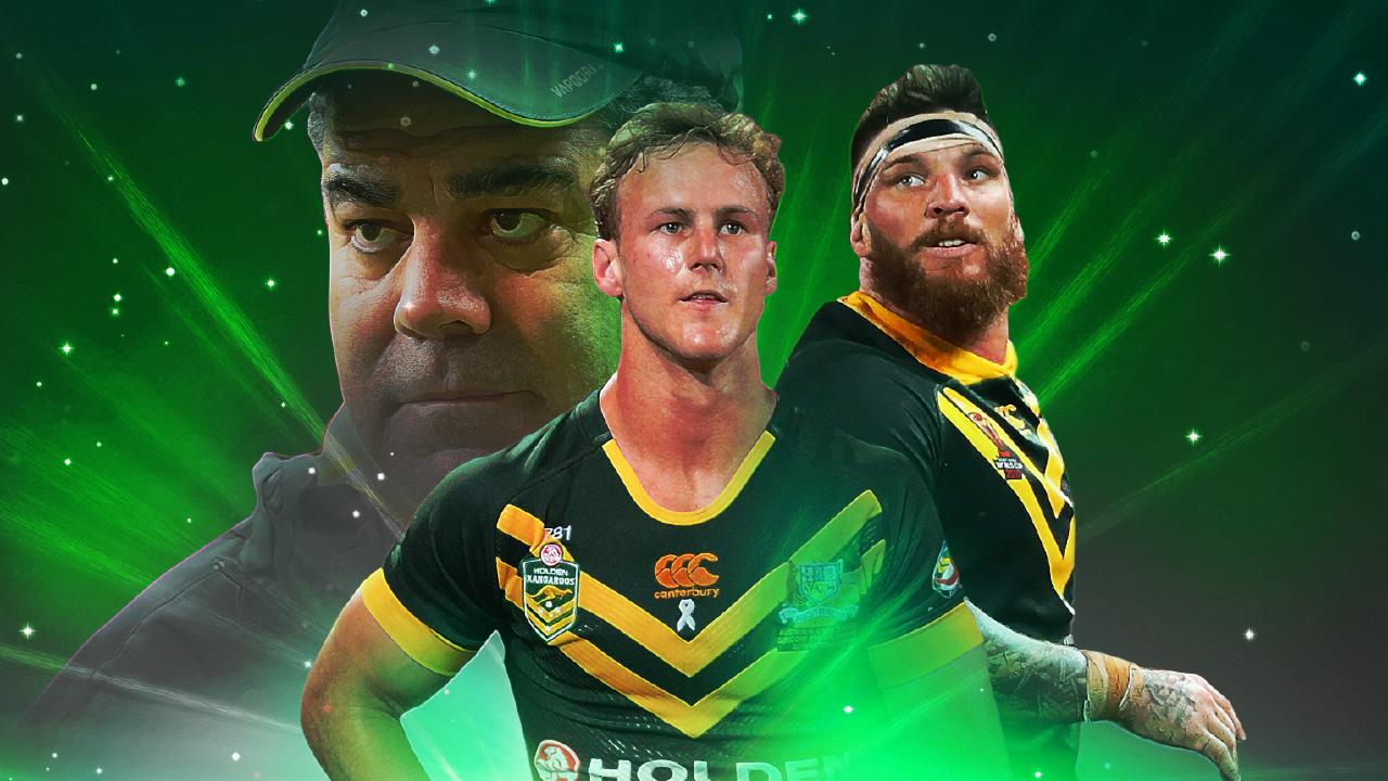 Mal Meninga, Daly Cherry-Evans and Josh McGuire.