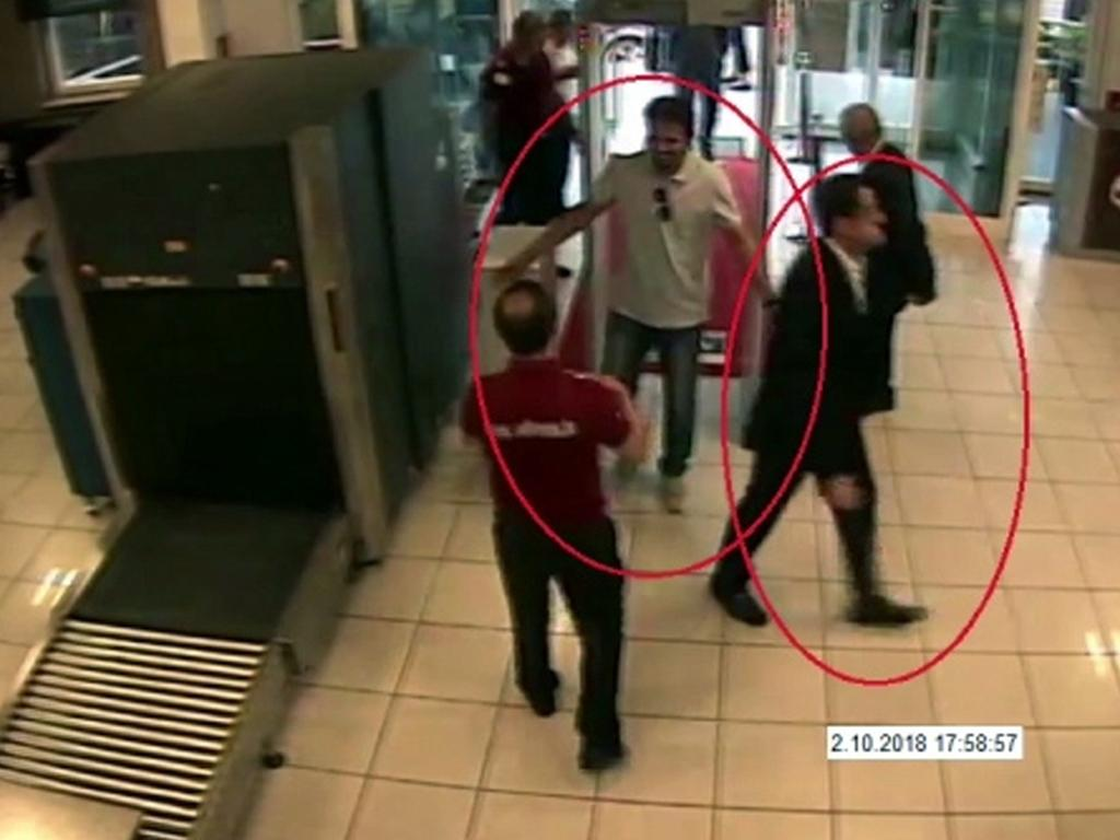 Suspects in the disappearance of Jamal Khashoggi. Picture: AP