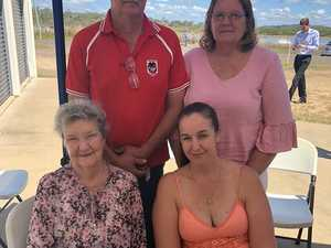 Norma Stanger, Kylie Stanger (front) and Mark and