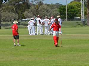 Matthew Patroni is dismissed by the Gympie Colts.