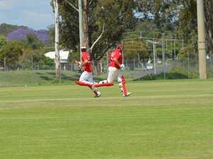 Taylor Heness and Hayden Wiecks scoring runs for