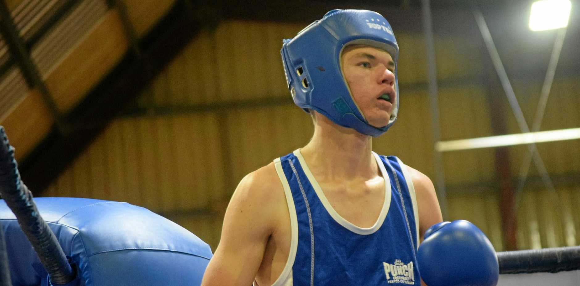 WEAPON IN THE RING: Harry Jones was impressive at the PCYC Fight Night.