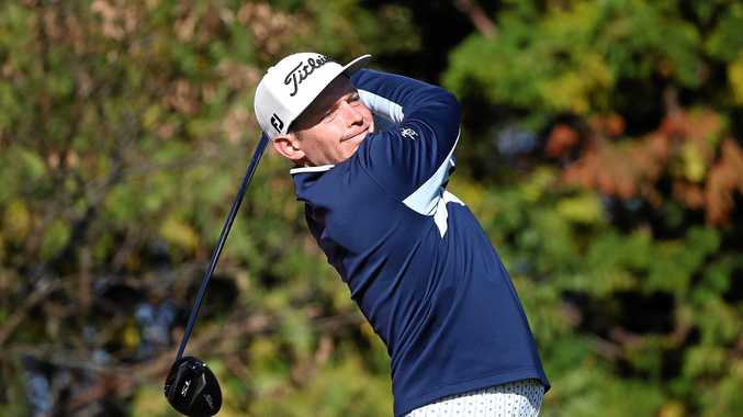 Cameron Smith tees off on the third hole during the third round of the CJ Cup at the Nine Bridges in Jeju, South Korea. Picture: Chung Sung-Jun/Getty Images