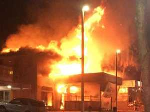 Airlie Beach building destroyed by fire