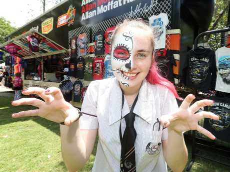 Lilly Bennett from Tullawong State School at the Gold Coast 600. Picture: Richard Gosling