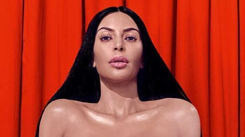 Kim Kardashian isn't shy about stripping off