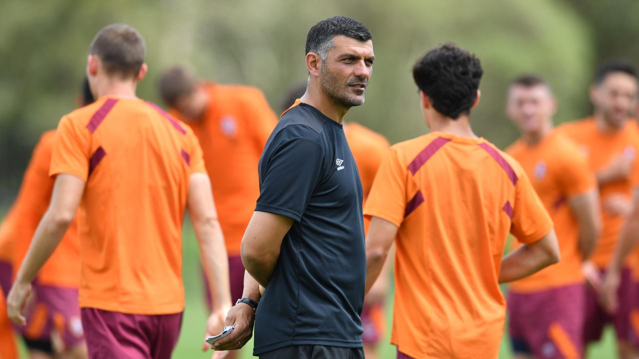 Aloisi is confident he has the squad to compete this season. (AAP Image/Darren England)