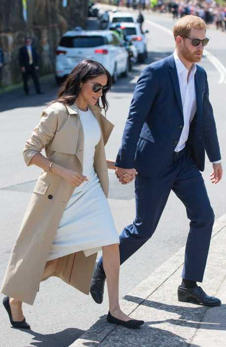 Cheap by comparison! She changed into a pair of $200 Rothy's flats to visit Taronga Zoo. Picture: Getty Images